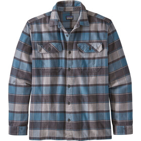 Patagonia Fjord LS Flannel Shirt Men plots: pigeon blue